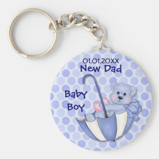 Umbrella Bear - New Dad - Boy Keychain