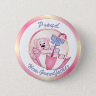 Umbrella Bear - New Grandpa - Girl 2 Inch Round Button