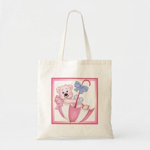 Umbrella Bear - New Mom of Girl Tote Bags