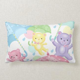 Umbrella Bears Lumbar Pillow