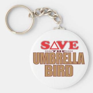 Umbrella Bird Save Basic Round Button Keychain