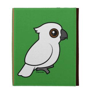 Umbrella Cockatoo (flat) iPad Folio Case