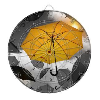 umbrella dartboard with darts