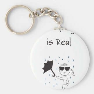 Umbrella Fail Struggle Is Real Basic Round Button Keychain