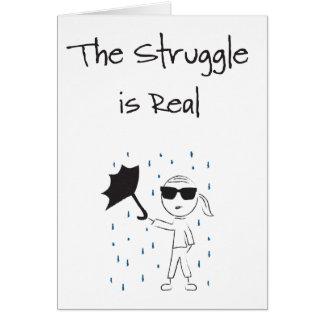 Umbrella Fail Struggle Is Real Card