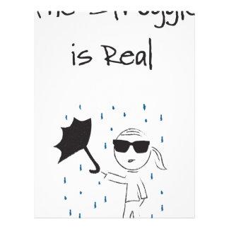 Umbrella Fail Struggle Is Real Letterhead