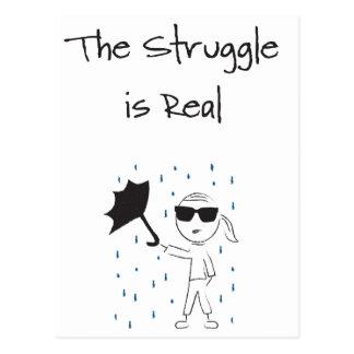 Umbrella Fail Struggle Is Real Postcard