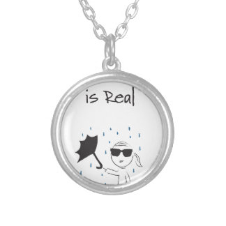 Umbrella Fail Struggle Is Real Silver Plated Necklace