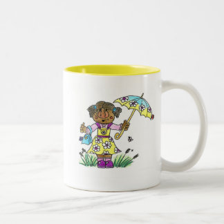 Umbrella Girl Two-Tone Mug