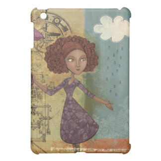 Umbrella Girl Whimsical Garden Illustration Case For The iPad Mini
