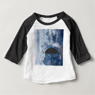 Umbrella in Blue Shower Baby T-Shirt