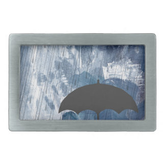 Umbrella in Blue Shower Belt Buckles