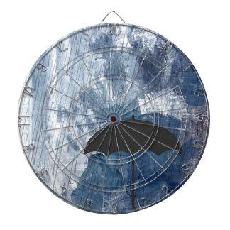 Umbrella in Blue Shower Dartboard