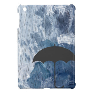Umbrella in Blue Shower iPad Mini Cover