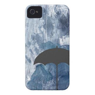 Umbrella in Blue Shower iPhone 4 Case