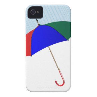Umbrella In The Rain iPhone 4 Cases