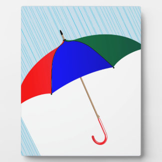 Umbrella In The Rain Plaque