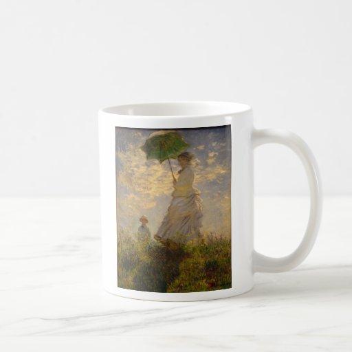 Umbrella Monet Painting Coffee Mugs