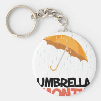 Umbrella Month - Appreciation Day Basic Round Button Keychain