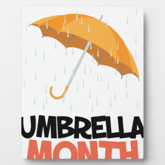 Umbrella Month - Appreciation Day Plaque