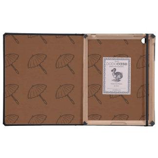 umbrella pattern brown iPad case