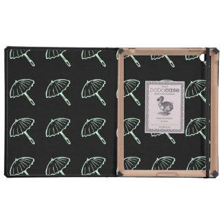 umbrella pattern mint iPad case
