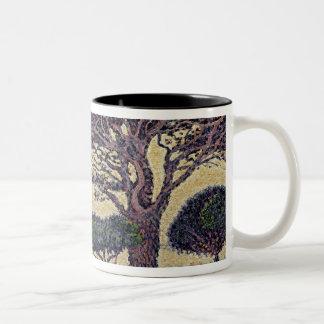 Umbrella Pines at Caroubiers, 1898 Two-Tone Coffee Mug
