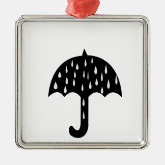 umbrella rain metal ornament