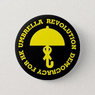 UMBRELLA REVOLUTION and DEMOCRACY FOR HK. 2 Inch Round Button