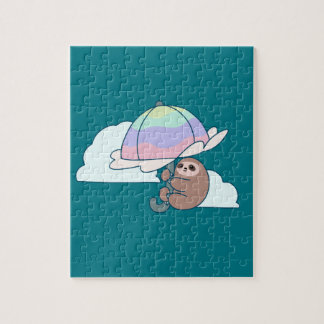 Umbrella Sloth Jigsaw Puzzle
