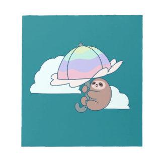 Umbrella Sloth Notepad