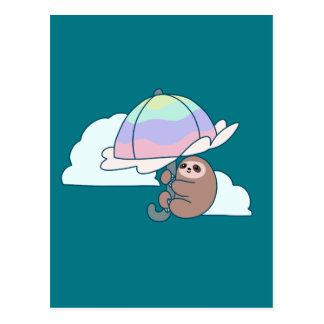 Umbrella Sloth Postcard