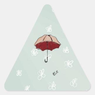 Umbrella Triangle Stickers