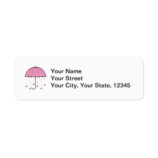 Umbrella with Hearts (Pink)