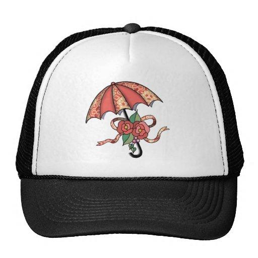 Umbrella with Roses 08 Mesh Hat