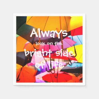 Umbrellas / Always look on the bright side of life Paper Napkins