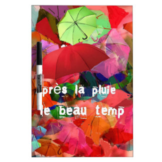 Umbrellas and French proverb Dry-Erase Whiteboard