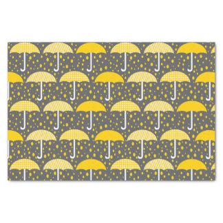 Umbrellas Baby Shower Sprinkle Yellow Gray Tissue Paper