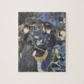 Umbrellas by Pierre Renoir, Vintage Impressionism Jigsaw Puzzle