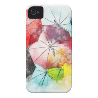 Umbrellas  Colorful Abstract iPhone 4 Case