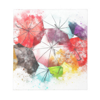 Umbrellas  Colorful Abstract Notepad