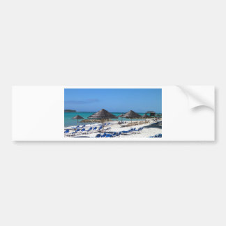 Umbrellas in the Bahamas Bumper Sticker