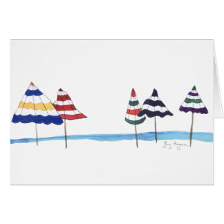 Umbrellas on the Beach Cards