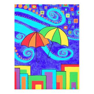 Umbrellas Postcard