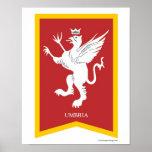 Umbria Italy Region Crest Art Print