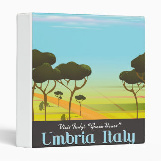 Umbria Italy travel poster 3 Ring Binder