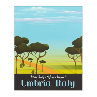 Umbria Italy travel poster Acrylic Print