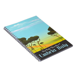 Umbria Italy travel poster Notebook