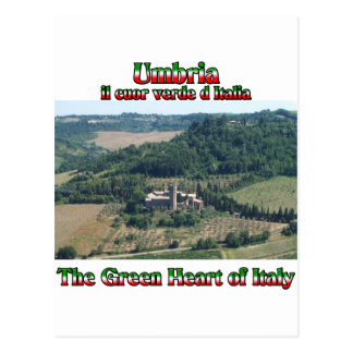 Umbria the Green Heart of Italy Postcard