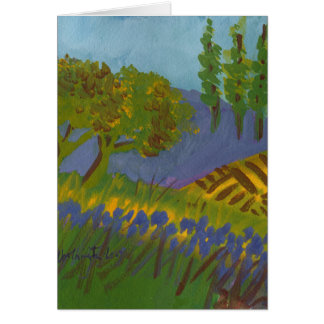 Umbrian Iris note card for get-well, thoughtful
